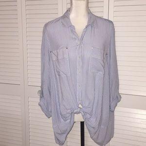 Jones New York button down blouse size XL